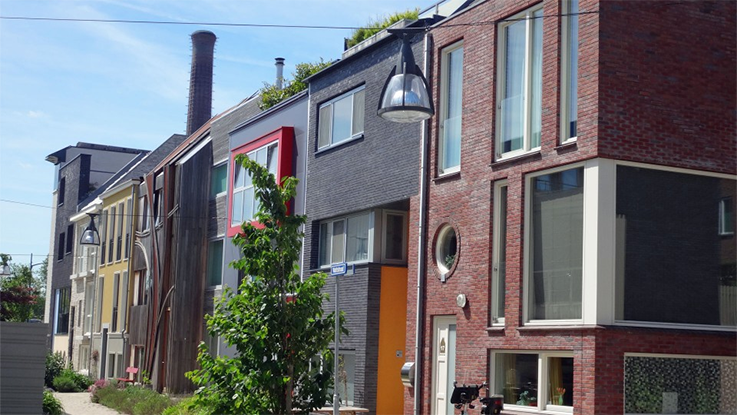 The Nieuw Leyden project in Holland has created around 700 new homes. Compact building plots here cost about £75,000 each. Credit - Ted Stevens.
